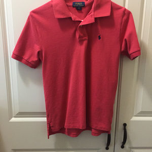 Ralph Lauren Short Sleeve Polo Red Sz 10/12